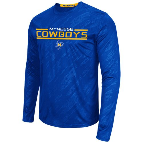 Colosseum Athletics™ Men's McNeese State University Sleet Embossed Long Sleeve T-shirt
