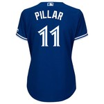 Majestic Women's Toronto Blue Jays Kevin Pillar #11 Authentic Cool Base Alternate Jersey
