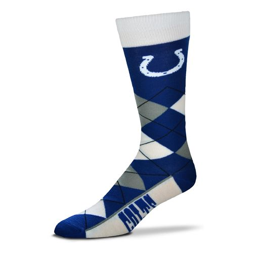 For Bare Feet Men's Indianapolis Colts Flag Top Argyle Dress Socks