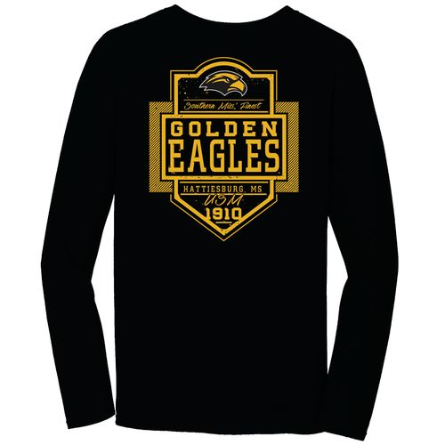Image One Men's University of Southern Mississippi Finest Shield Comfort Color Long Sleeve T-shi
