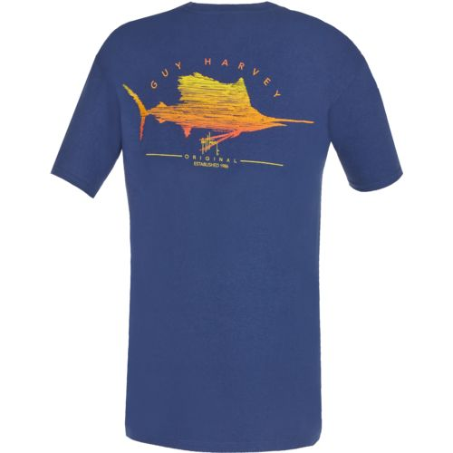 Guy Harvey Men's Sailfish Scribble T-shirt