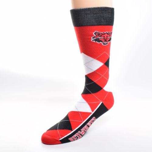 FBF Originals Adults' Arkansas State University Team Pride Flag Top Dress Socks
