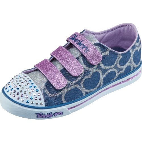 SKECHERS Girls' Twinkle Toes Shuffles Glitter Heart Shoes - view number 2