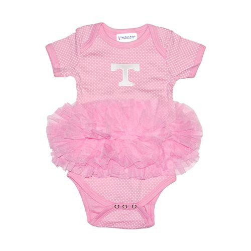 Two Feet Ahead Infant Girls' University of Tennessee Pin Dot Tutu Creeper