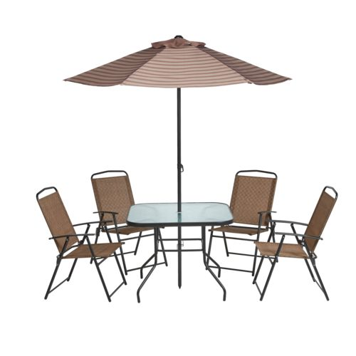 Mosaic 6-Piece Folding Patio Set