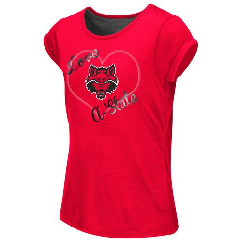 Colosseum Athletics™ Girls' Arkansas State University Baywatch Split Back T-shirt