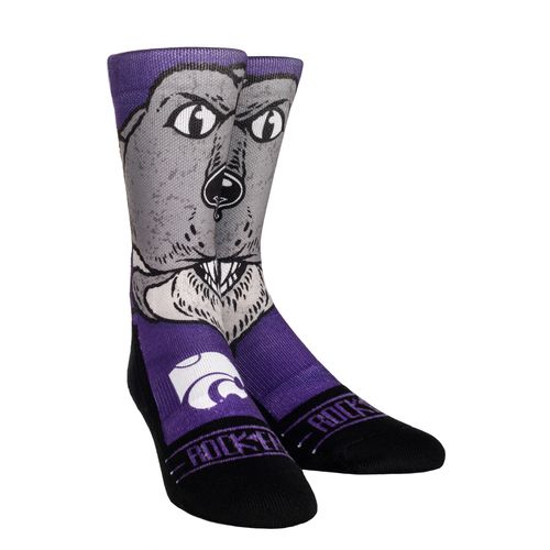 Rock 'Em Apparel Men's Kansas State University Willie Mascot Socks