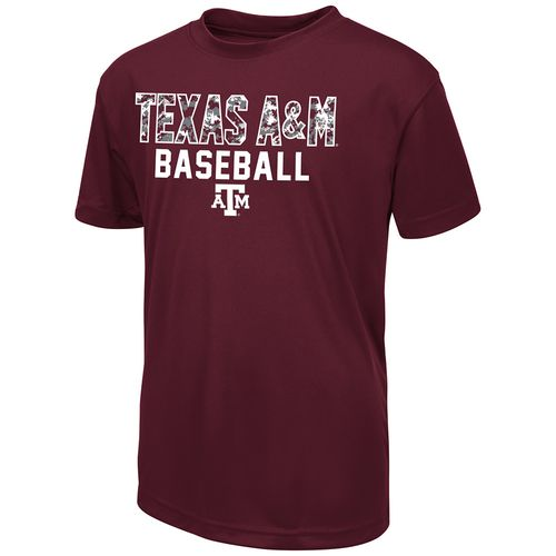 Colosseum Athletics Boys' Texas A&M University Digi Camo Baseball T-shirt
