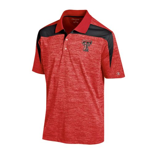 Champion™ Men's Texas Tech University Synthetic Colorblock Polo Shirt