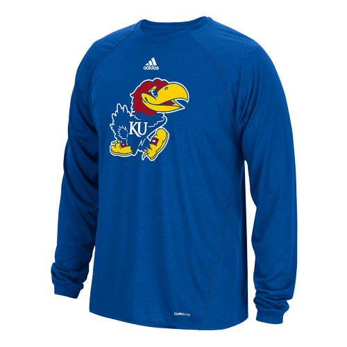 adidas Men's University of Kansas No Spine climalite Long Sleeve Shirt