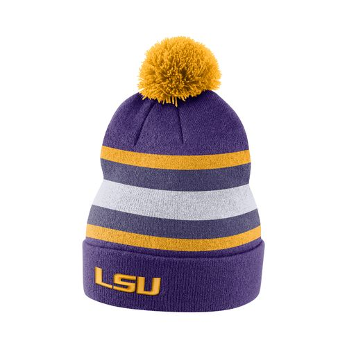 Nike™ Men's Louisiana State University Sideline Cuffed Pom Beanie