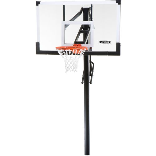 "Display product reviews for Lifetime 54"" Tempered-Glass Inground Basketball Hoop"