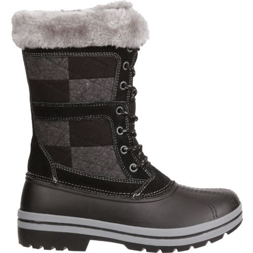 Magellan Outdoors Women's Patchwork Suede Winter Boots