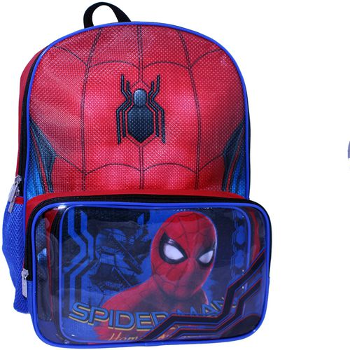 Marvel Boys' Spider-Man Backpack with Lunch Kit