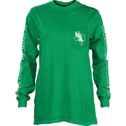 Three Squared Juniors' University of North Texas Mystic Long Sleeve T-shirt