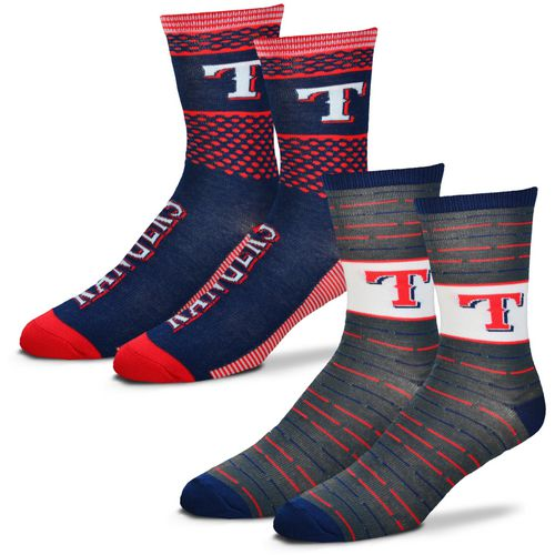 For Bare Feet Men's Texas Rangers Father's Day Socks