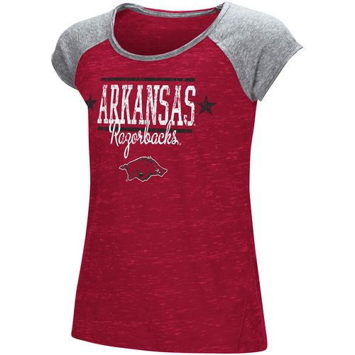 Colosseum Athletics Girls' University of Arkansas Sprints T-shirt