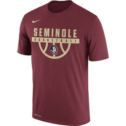 Nike Men's Florida State University Dry Legend Basketball Short Sleeve T-shirt