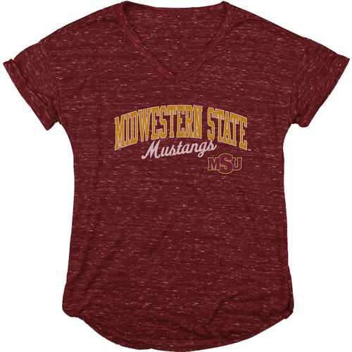 Blue 84 Women's Midwestern State University Dark Confetti V-neck T-shirt
