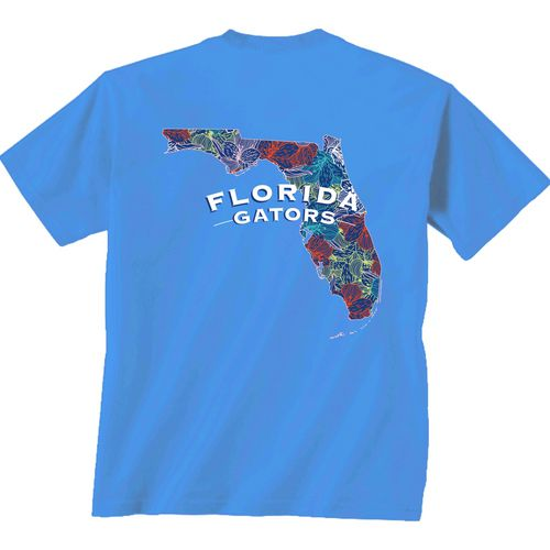 New World Graphics Women's University of Florida Comfort Color Puff Arch T-shirt
