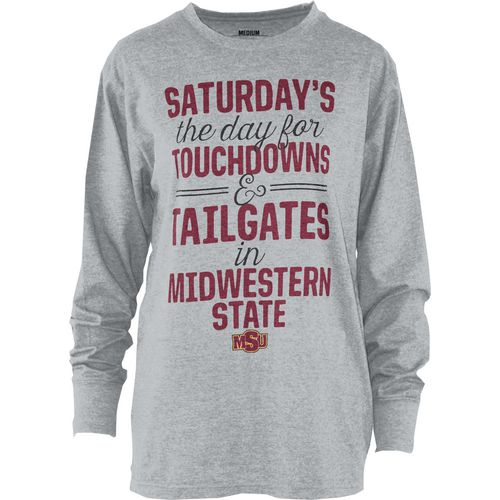 Three Squared Juniors' Midwestern State University Touchdowns and Tailgates T-shirt