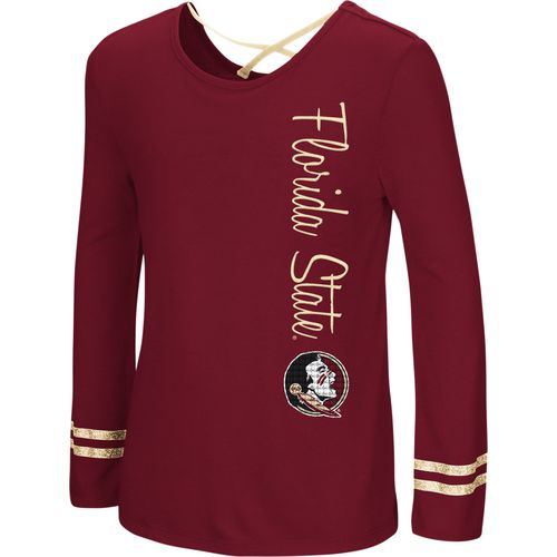 Colosseum Athletics Girls' Florida State University Marks the Spot Strappy Back Long Sleeve T-shirt