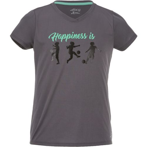 BCG Girls' Happiness Is Short Sleeve T-shirt