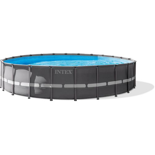 INTEX 24 ft x 52 in Round Ultra Frame Pool Set | Academy