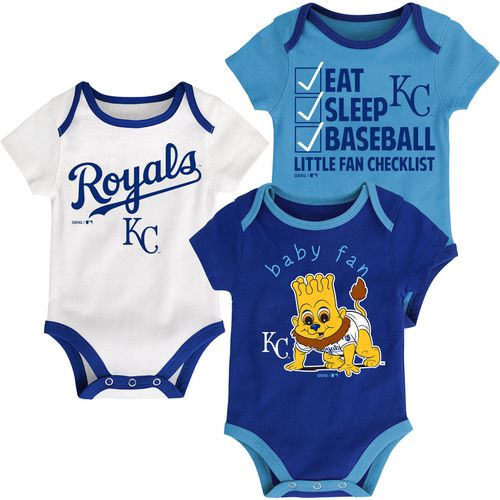 MLB Infants' Kansas City Royals Play Ball Creepers 3-Pack
