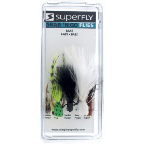 Superfly Grab 'N Go Bass Bug 5-Piece Fly Set - view number 1
