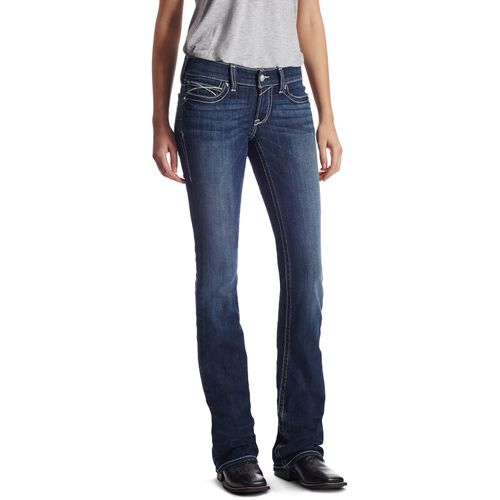 Ariat Women's R.E.A.L. Low Rise Rosy Whipstitch Boot Cut Jeans