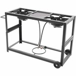 Outdoor Gourmet Double-Burner Fry Cart