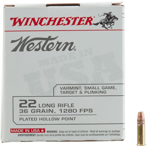 Winchester Western .22 Long Rifle 36-Grain Ammunition