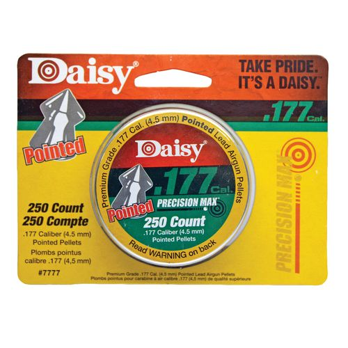 Display product reviews for Daisy® .177 Caliber Pointed Pellets 250-Pack
