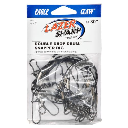 "Display product reviews for Eagle Claw 30"" Double Drop Drum/Snapper Saltwater Leader Rigs 2-Pack"