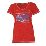Step Ahead Blue 84 Women's Louisiana Tech Bo V-neck T-shirt