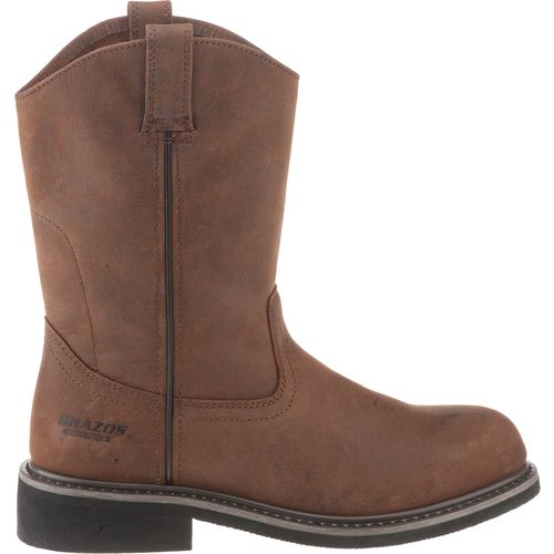 Brazos Men's Crazy Horse Roper Wellington Boots