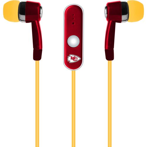 Mizco Kansas City Chiefs Stereo Hands-Free Earbuds