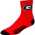 For Bare Feet Men's University of Georgia Quarter Socks