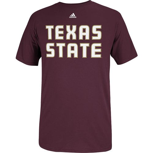adidas Men's Texas State University Team Font Short Sleeve T-shirt