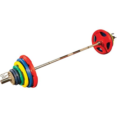 Body-Solid 300 lb. Colored Rubber Grip Olympic Plate Set - view number 1