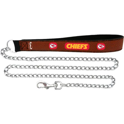 GameWear Kansas City Chiefs Football Leather Chain Leash