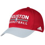 adidas Adults' Houston Rockets Authentic Practice Structured Flex Cap