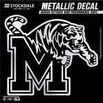 "Stockdale University of Memphis 6"" x 6"" Metallic Vinyl Die-Cut Decal"