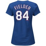 Majestic Women's Texas Rangers Prince Fielder #84 T-shirt