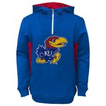 NCAA Kids' University of Kansas 1/4 Zip Fleece Hoodie