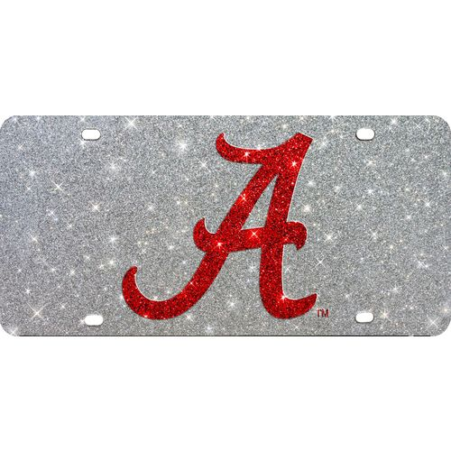 Stockdale University of Alabama Glitter Logo License Plate