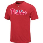 Majestic Men's Philadelphia Phillies Official Wordmark T-shirt - view number 1
