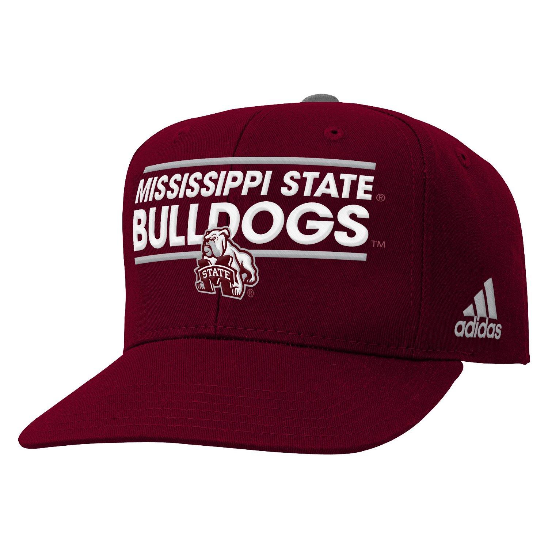 adidas™ Boys' Mississippi State University Flat Brim Snapback Cap