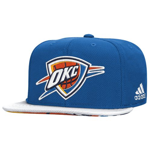adidas™ Men's Oklahoma City Thunder Authentic Draft Flat Brim Snapback Cap